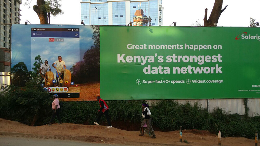 Safaricom billboard