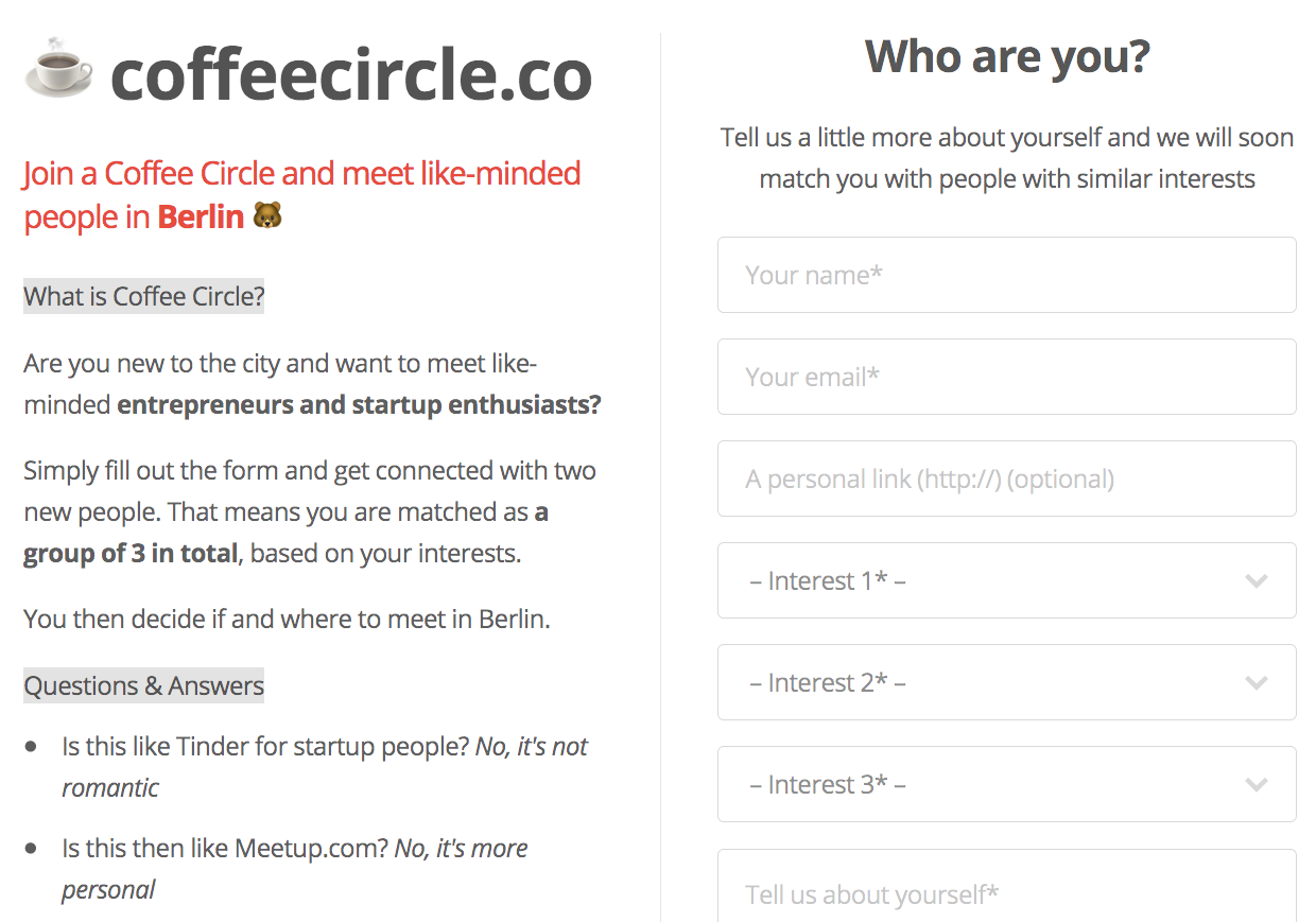 Coffee Circle screenshot